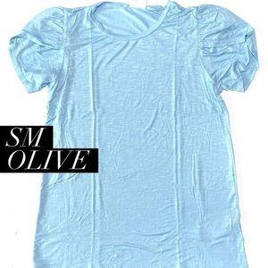 Lularoe NWT Small Blue Olive Top 💙